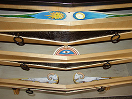 Alchemist Sunburst Sideboard paintings inside the drawers