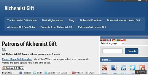 Alchemist Gift Patron Page