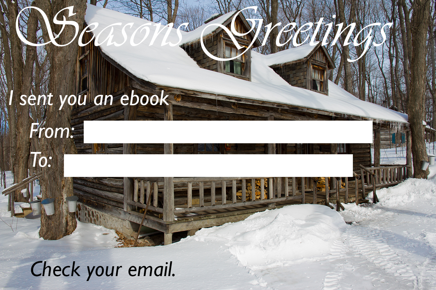 Snow Cabin Ebook Card