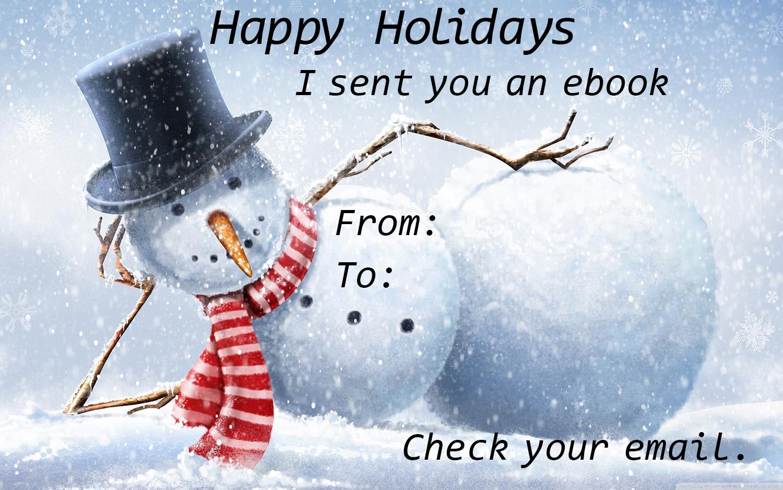 Snowman Ebook Gift Card